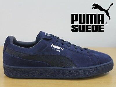 PUMA Suede Classic Men's Trainers Mono Reptile Retro Leather Sneakers 36316404