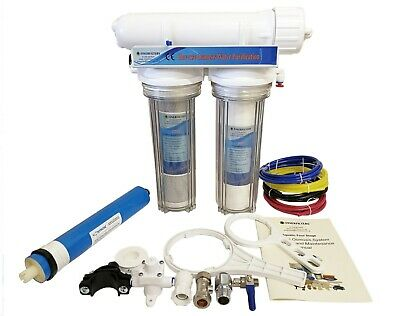 Finerfilters 3 Stage Reverse Osmosis System - RO Unit - Marine & Tropical 50GPD