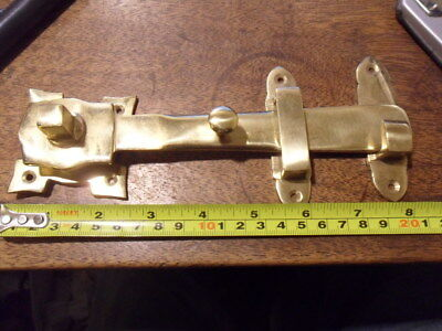 1 of 10 antique Gothic style heavy brass Suffolk latch door catch & spindle SF9