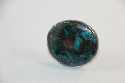 Natural Azurit Cabochon , Edelsteine 34x30x5mm,  77t. (4)