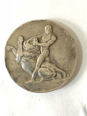 Antique Sterling Silver British Army On Rhine Boxing Medal Dated 1925