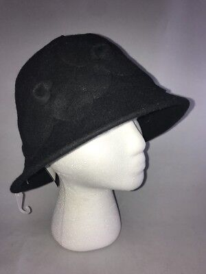 Nine West Women/'s 100/% Wool Solid Floral Bucket Hat Cap One Size New NWT $48