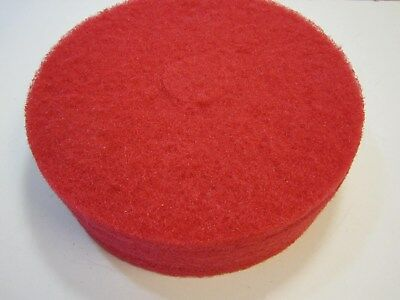 "3M 17"" Industrial Grade Red Floor Buffing Pads Pack Of 5 NEW"