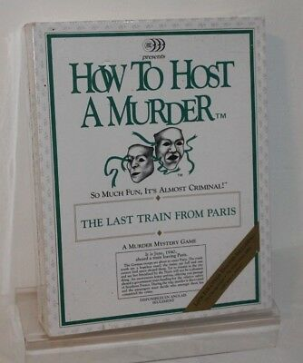 HOW TO HOST A MURDER 'THE LAST TRAIN FROM PARIS' MYSTERY GAME * Brand New Sealed