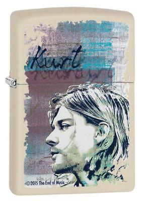 "Zippo ""Kurt Cobain"" Cream Matte Finish Lighter, Full Size,  29051"