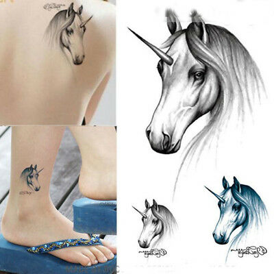 Magical Unicorn  Horse Tattoos for Adults, Kids Girls for Party Looks Realistic