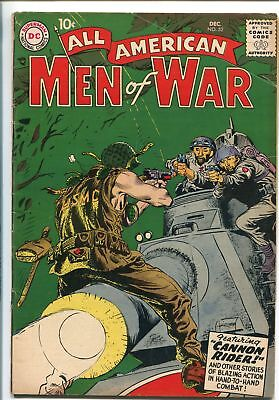 ALL-AMERICAN MEN OF WAR #52-1957-WWII-DC-SILVER AGE-KUBERT TANK COVER-vg+