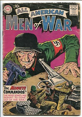 ALL-AMERICAN MEN OF WAR #74-1959-WWII-DC-SILVER AGE-1ST MINUTE COMMANDOS-vg-