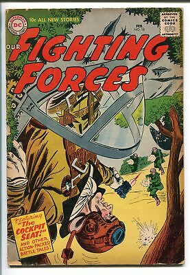 OUR FIGHTING FORCES #18-1957-DC-SILVER AGE-WWII-HEATH- KUBERT-vg minus