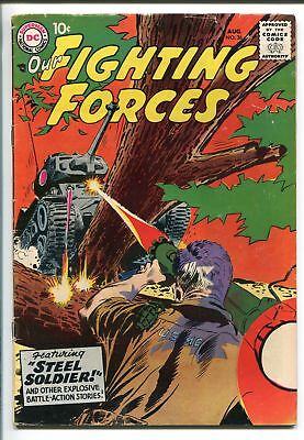 """OUR FIGHTING FORCES #36-1958-DC-SILVER AGE-TANK BATTLE COVER-""""BAT MAN'-vg+"""