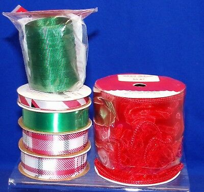 American Crafts 6 x 4ft spool FESTIVE//CHRISTMAS assortment packs ~ colour themes