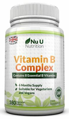 Vitamin B Complex 180 tablets (6 month supply) - Contains all Eight B Vitamins i