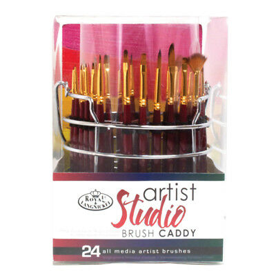 R&L Artist Studio Caddy with 18 Brushes
