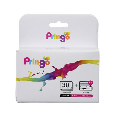 Pringo P231 Pocket Printer Photo Paper and Ribbon 30 Prints Pack 4HTI09750