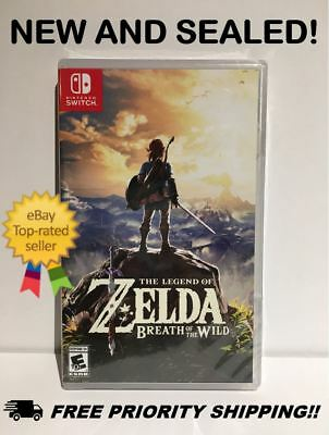 Legend of Zelda: Breath of the Wild (Nintendo Switch, 2017) New Free Ship NO TAX