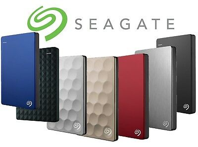 Seagate Backup Plus Ultra Slim Expansion 1TB 2TB 4TB 5TB Portable Hard Drive HDD