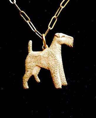 Rare Vintage Airedale Terrier Necklace So Cool!