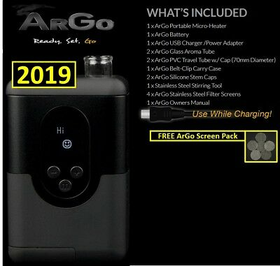 NEW 2019 Arizer ArGo Portable Digital Temperature + Free ArGo Screen Pack