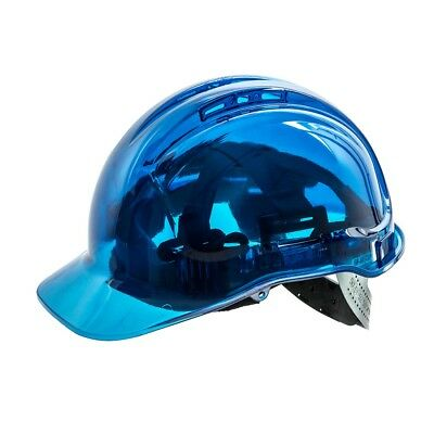 Portwest Peak View Hard Hat Safety Helmet Vented Lightweight Workwear Blue PV50
