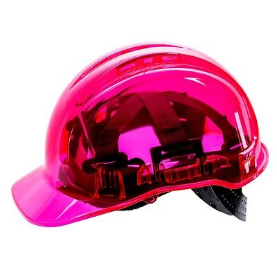 Portwest Peak View Hard Hat Safety Helmet Vented Lightweight Workwear Pink PV50