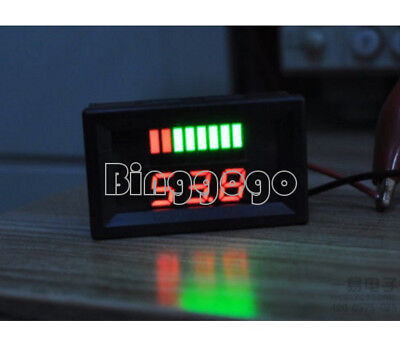 6V Charge Level Red Indicator Voltmeter for 6V 48*29*21 mm Lead-acid Battery