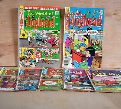 1974 Archie Comics Group lot of 7  GIANT JUGHEAD Joke Book LIFE WITH ARCHIE vg