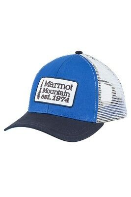 58a7b81c NEW MARMOT RETRO Trucker Hat True Blue Snapback - $17.85 | PicClick