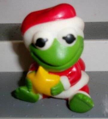 muppet babies 1989 kermit the frog squeeze toy remco brand 3 tall