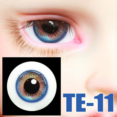 TATA glass eyes TE-11 16mm for BJD SD MSD 1/3 1/4 size doll use red+blue