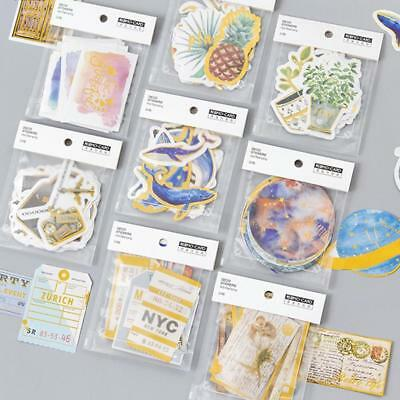 24Pcs/pack Retro Silver Gold notes Scrapbook Stickers Diary  Label Sticker Decor