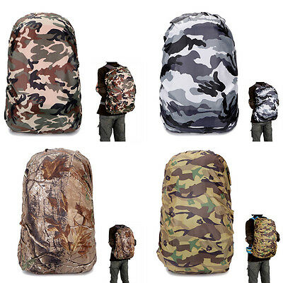 Waterproof Camo Rain Cover Travel Hiking Backpack Outdoor Camping Bag # P Gift
