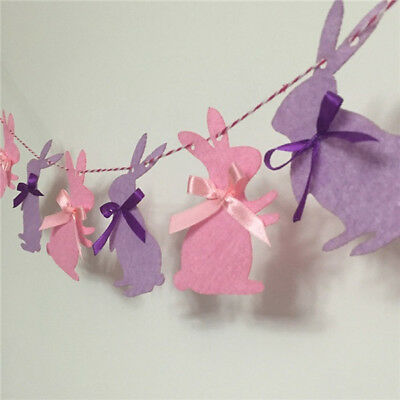 3m Easter Spring Party Cloth Banner Cute Vivid Bunny Flags Door Hanging Decor