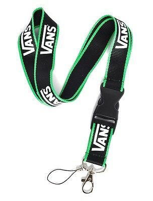 * Black & Green VANS Skate Sport Lanyard Key ID Badge Neck Strap+FREE STICKER✅