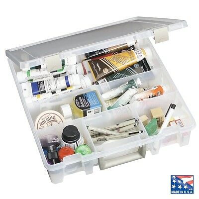ARTBIN SUPER SATCHEL STORAGE BOX for craft is stackable with 6 compartments