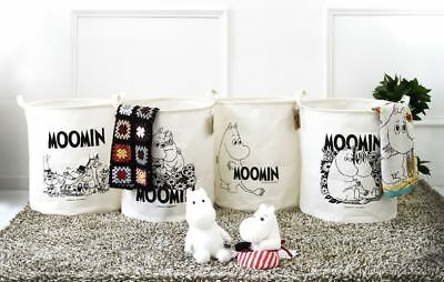 Moomin Waterproof Foldable Linen Laundry Basket Clothes Toys  Bag Bins Storage