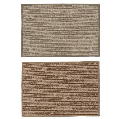 JVL Cambridge Machine Washable Mat 40x60cm Beige & Brown