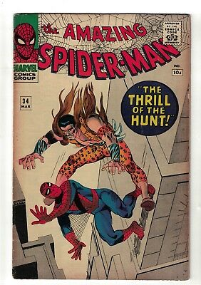 Marvel comics Amazing Spiderman  34  Kraven The Thrill of the Hunt VGF 5.0