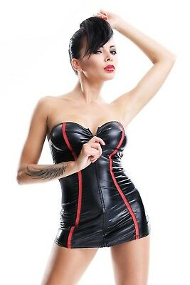 Demoniq Damen Minikleid im Wetlook