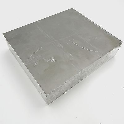 """2.25"""" thick 6061 Aluminum PLATE  6.375"""" x 8"""" Long Solid Flat Stock sku 174751"""