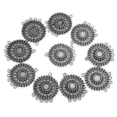 10pcs Mixed Antique Silver Connector for Bracelet Jewelry Making Accessories