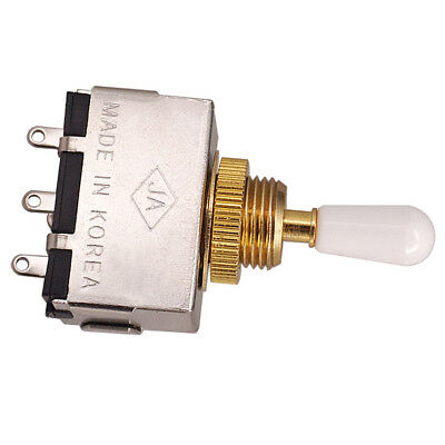 3 Way Pickup Selector Tone Toggle w/ White Cap for Les Paul Electric Guitar