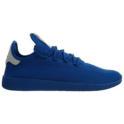 release date 5dc9a 21dcf Adidas Pharrell PW Tennis HU Mens CP9766 Blue Mesh Athletic Shoes Size 9