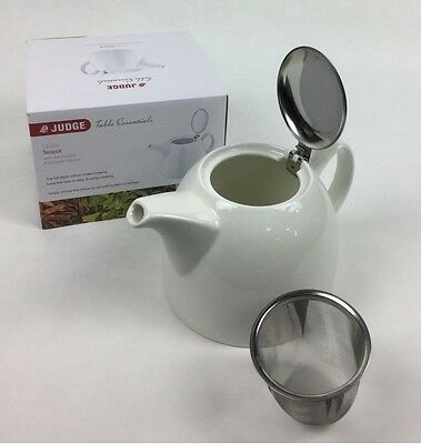Judge Table Essentials 1.2L Filter Infuser Teapot White - JFY180