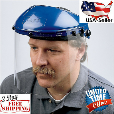 MCR Safety Polycarbonate Universal Visor Safety Faceshield Clear 8Inch Visor NEW
