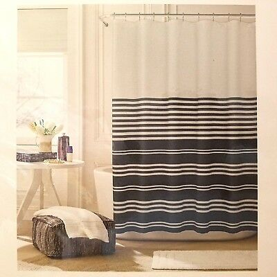 NEW DKNY Carbon White Midnight (Navy Blue) Shower Curtain - $24.95 ...