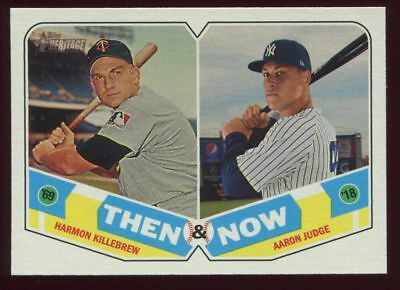 2018 Topps Heritage Then And Now Insert Singles U Pick Complete Your Set