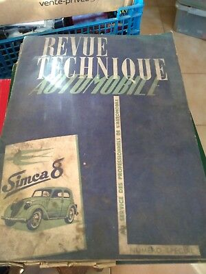 Revue Technique Automobile Numero Special Simca 8