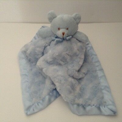 Blankets And Beyond Blue Bear Security Blanket Satin Swirls Lovey