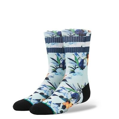 Stance Wipeout Boy's Crew Sock - Large - B526D17WIP