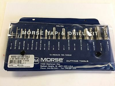 Morse 37105 Metric Tap & Drill Set With Machinist's Guide For Taps, USA Made